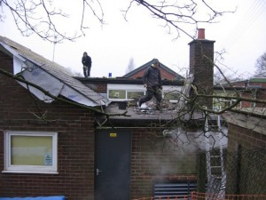 unsafe working at height roofers